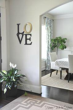 Honey We're Home: DIY LOVE Art