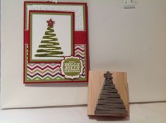 another great hand carved stamp using Stampin' Up! Undefined kits