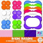 $3.00 These bright and colorful buttons will be a great addition to any of your teacher creations.Contents:* 24 buttons in the colors of pink, orange,...