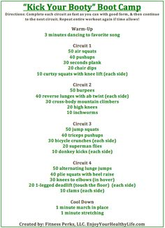 Boot Camp Style Workout