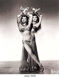 vintag, costum, danc twin, belly dance, jamal twin, egyptian dancer, belli danc, twins, bellyd
