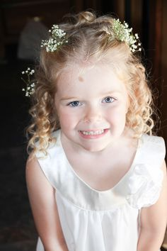 Adorable Baby's Breath in the Flower Girl's Hair!