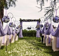 Lavender Wedding Aisle - Weddings on a budget with cheap wedding ideas, cheap wedding dresses and cheap bridesmaids dresses - Your Cheap Wedding