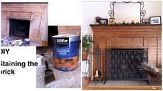 Oh do I have just the fireplace for this DIY project!...How to Stain Brick (Updating a Brick Fireplace) - Ask Anna
