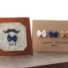 Father Day Bow Tie Pasta Cards {Fathers Day DIY Cards}
