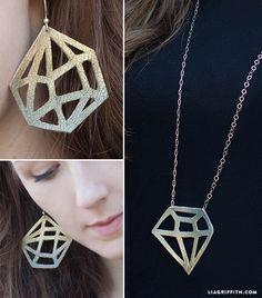 DIY Leather Geometric Jewelry