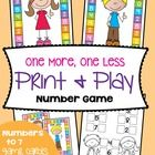 Students will love playing either 'One More' or 'One Less' to assist with counting, number sequence and as an easily introduction  to addition and ...