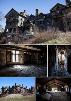 Abandoned Halcyon Hall (Bennett College), New York.  Top 10 Abandoned, Amazing and Unusual Old Homes.   Most Beautiful Pages