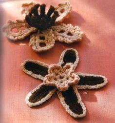 Patrones flores de crochet