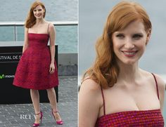 Jessica Chastain In Dsquared² - 'The Disappearance of Eleanor Rigby' San Sebastian Film Festival Photocall - Red Carpet Fashion Awards