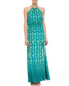 Chevron-Print Halter Maxi Dress at CUSP.
