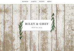 love this rustic website design from Riley & Grey