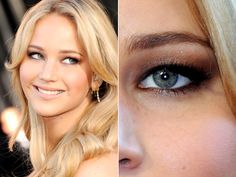 eyebrow shapes, eye makeup, jennif lawrenc, beauti, hood eye, eyebrows, hair, jennifer lawrence, hooded eyes