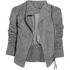 grey suede jacket fashion, style, cloth, jackets for women, leather jackets, closet, leather jacket for women, asymmetr jacket, grey sued
