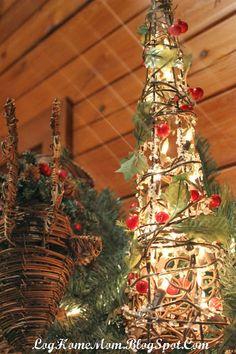Christmas Time is Coming christmas time, christma creativ, tomato cage, cabin christma, christma time