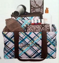 Add a cosmetic bag & a flat iron case to our medium utility tote as a special gift for a college student.