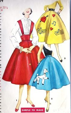 vintage circle skirts -