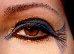 Cleopatra-inspired eye makeup