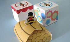 Cajitas imprimibles de abejitas de cajita, cajita imprim, honey gift, set de, box templat, favor boxes, de abejita, bee favor, imprim de