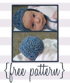 Bloggity Blog: Baby Bonnet Crochet Pattern (free!)