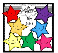 FREE Silly Stars Clip Art
