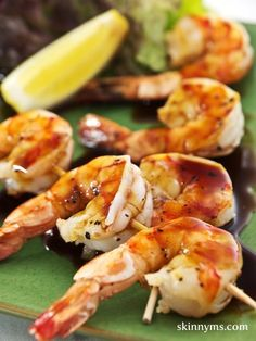 BBQ Shrimp Cocktail - a yummy, healthy #shrimp dish. #CleanEating