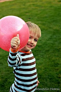 """Use a funnel to put glitter inside a balloon before you blow it up.  Once inflated it will be """"glittered"""" up."""