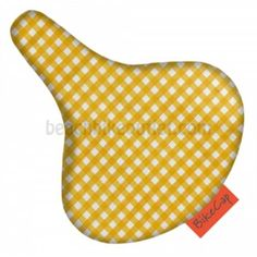 Suli Yellow Fine Diamond Seat Cover   Beach Bike Outlet
