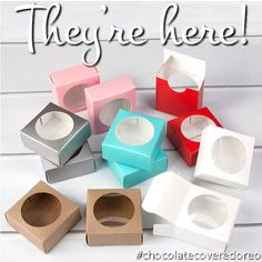 Single Cookie Box for your Chocolate Covered OREO cookies! #cookiepackaging #favorbox #weddingfavor #brpboxshop #cutepackaging