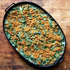 Creamed Spinach with Spiced Bread Crumbs Recipe via www.Saveur.com
