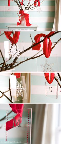 #handmade #ornaments by the handmade home #MarthaStewart #MichaelsStores