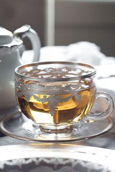 Silver & White Winter Tea