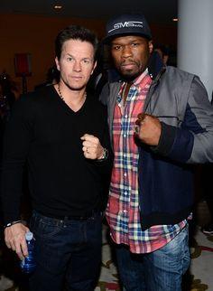 Mark Wahlberg & 50 Cent at Pain & Gain Screening