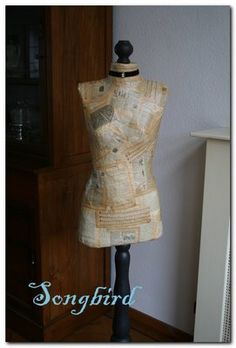 How to make a vintage-inspired dress form