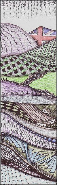 highland hillside bookmark