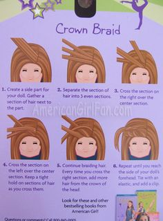 Finally know how to do a crown braid!!  Step by step instructions for someone like me...who sucks at doing hair lol