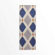 Phoenix Wool Dhurrie Rug - Regal Blue @west elm rug for hallway