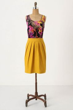 Beautiful, bold color pairings. #anthro #dress #want