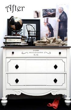 The Graphics Fairy - DIY: Paris Address Dresser