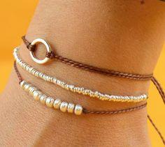 Sterling silver cord bracelet. $13.50, via Etsy. cute!
