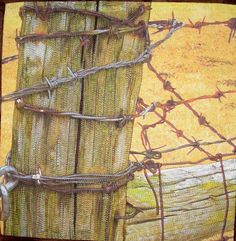 Fixin' Fence by Suzan Engler | Fiber Artist