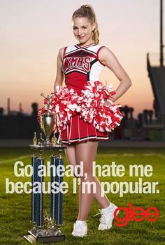 Quinn Fabray; someone said Dianna still wears diapers in real life and enjoys it! They'd make her look really cute along with her pretty cheerleader uniform!