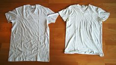 Fix a Shrunk Shirt with Warm Water and Hair Conditioner  If you accidentally shrunk a shirt (or other article of clothing) in the wash, there's a quick fix: soak it in warm water and hair conditioner, then stretch it back out to its proper size.  will have to try this just put two of my moms shirts in the dryer.