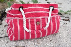 Tutorial - Upcycled Beach Bag from Thrift Store Skirt