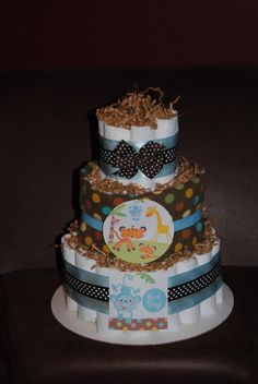 baby shower diaper cakes | Fisher Price Baby Shower Theme Diaper Cake by ericajmoore on Etsy
