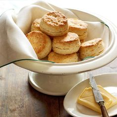 Double-Cheddar Holiday Biscuits are the cheesy, creamy side your guests will adore! More side dish recipes: http://www.bhg.com/thanksgiving/recipes/traditional-thanksgiving-side-dishes/?socsrc=bhgpin110213doublecheddarholidaybiscuits&page=10