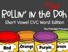 "Short vowel CVC word mats. Over 50 word mats included. 3 types of mats for each word so you can differentiate the activity! Includes ""I Can"" posters, CC standards, and 2 different response sheets."