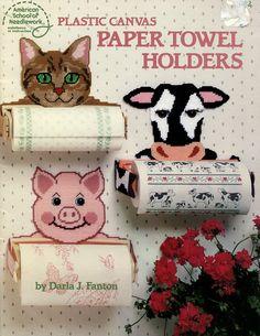 Plastic Canvas Cat Patterns Free | ... Plastic Canvas Pattern - Cat / Cow / Pig / Dog - ASN - Plastic Canvas