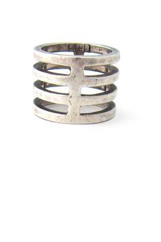 Buch + Deichmann, Denmark sterling silver ladder ring..