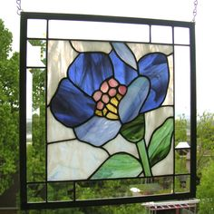 strained glass window, color, stainglass windows, art glass, stain glass, blues, blue lotus, lotus flower, stained glass